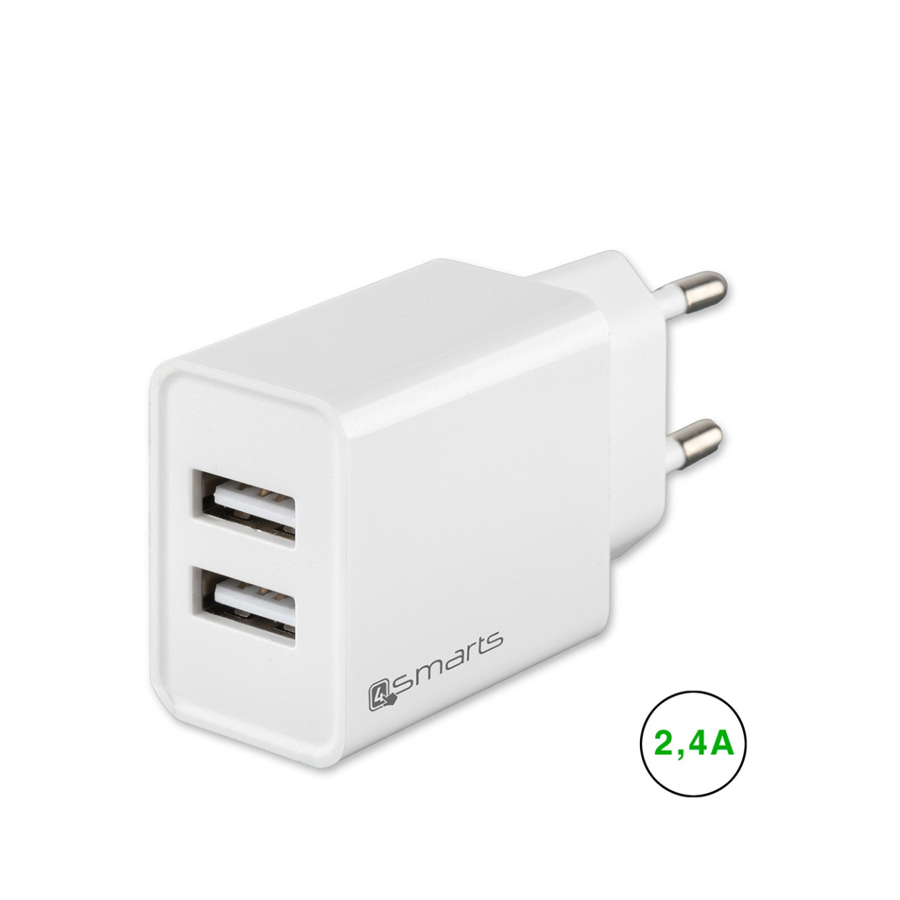 4Smarts Power adapter 220V m/ 2 USB udgang