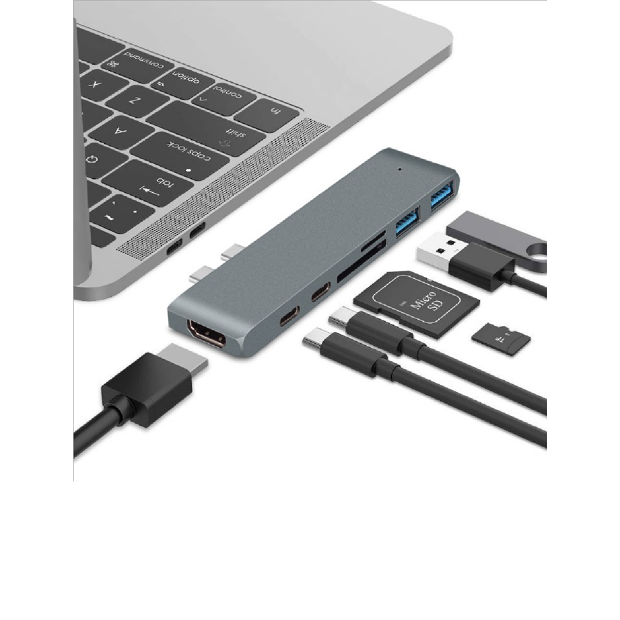 USB-C 3.1 Macbook hub - Grå